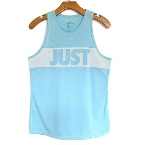 Nike | Just Do It Bright Blue Muscle Workout Tank